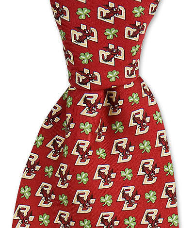 Boston College Eagle & Shamrock Tie