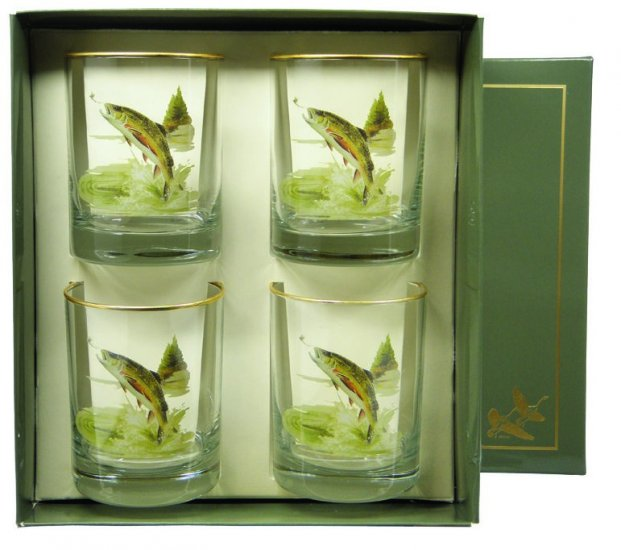 Trout, Double Old Fashioned, 14oz, gift boxed - Click Image to Close