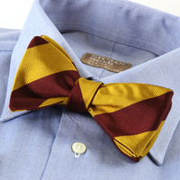 Classic University Stripe Bow