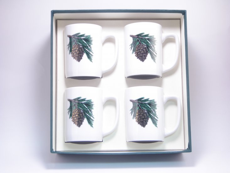 Pine Cone, Porcelain Mugs, 10oz, gft boxed - Click Image to Close