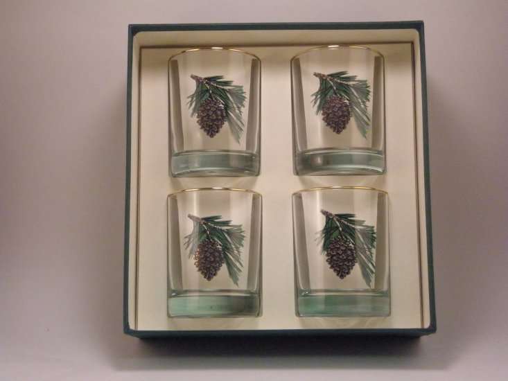 Pine Cone, Double Old Fashioned, gift boxed - Click Image to Close