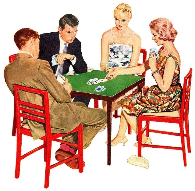 Image result for card parties, BRIDGE