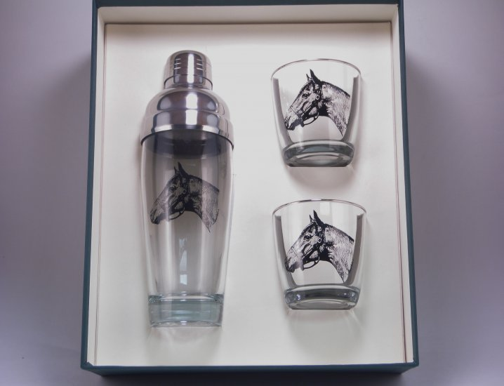 Sabiscuitt, Cocktail Shaker Set w/2 Tapered Old Fashioned, Gift - Click Image to Close