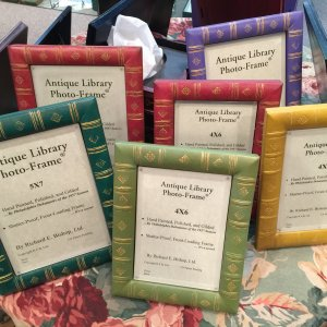 Colorful and Antique Library Photo Frames, 4x6