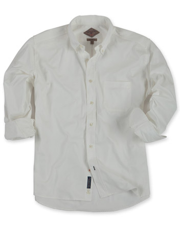 Fine Line Twill Shirt, Long-Sleeve
