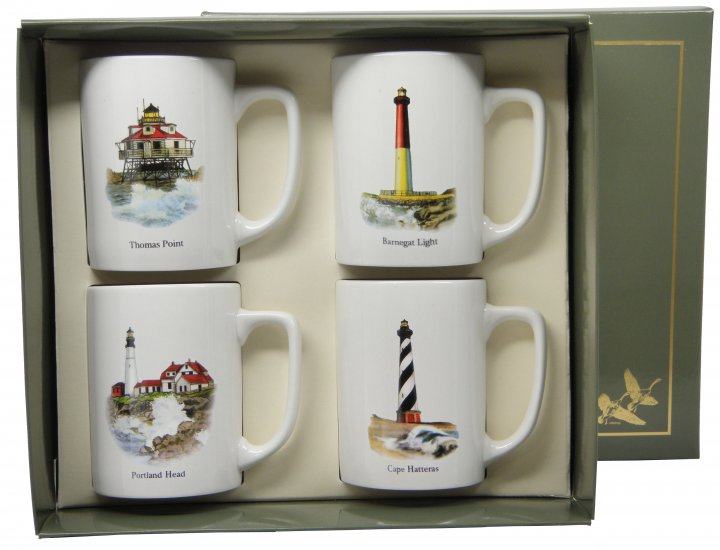Lighthouse, Porcelain Mugs, 10oz, gift boxed - Click Image to Close