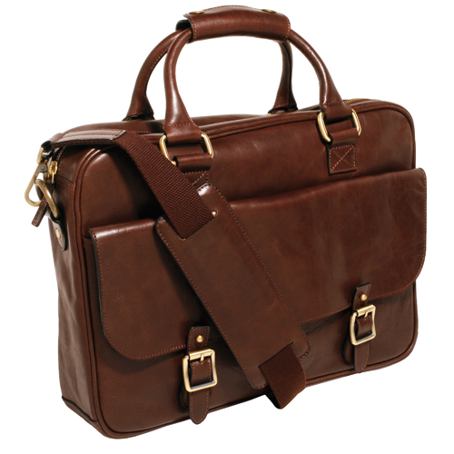 Trafalgar Arlington Leather Laptop Case: 100% Genuine Leather