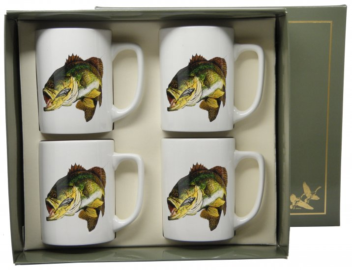 Bass, Porcelain Mugs, 10oz, gift boxed - Click Image to Close