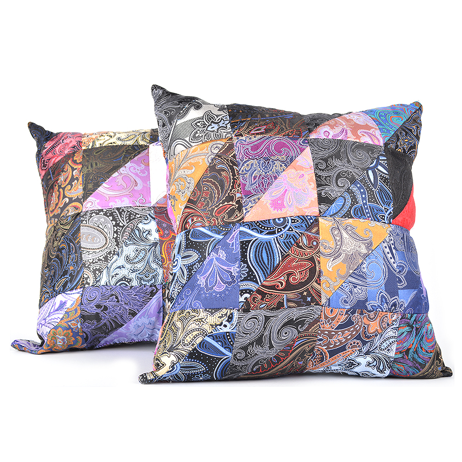 Image result for dion neckwear silk patchwork pillows