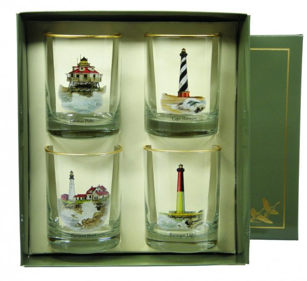 Lighthouse, Double Old Fashioned, 14oz, gift boxed - Click Image to Close