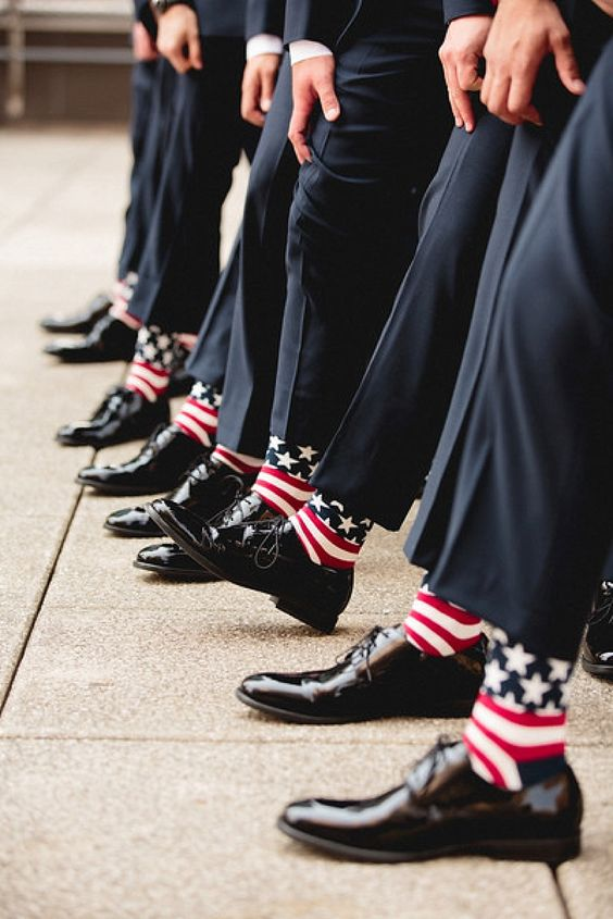 Classic Fourth of July Wedding / Men's wedding attire/ Patriotic wedding in Columbus, OH http://www.theeventprep.com photo by Robb McCormick: