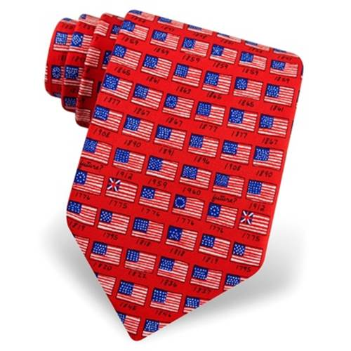 American Flag History Tie by Alynn Novelty