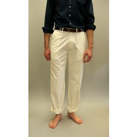 Harbor Pants Plain Memorial White