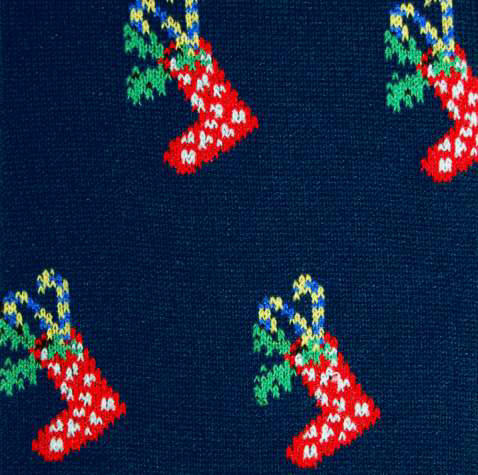 Navy Christmas Socks