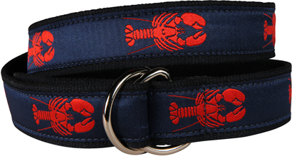 Maine Lobster (Navy) D-Ring Belt