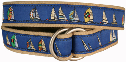 Rounding the Mark (Blue) D-Ring Belt