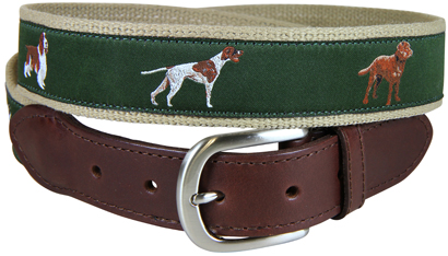 Sporting Dogs Leather Tab Belt