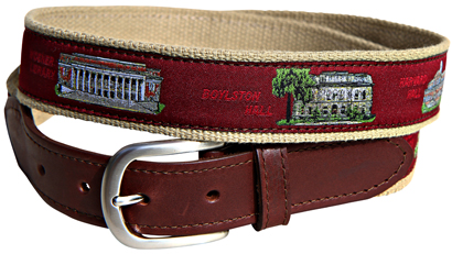 Harvard University Leather Tab Belt