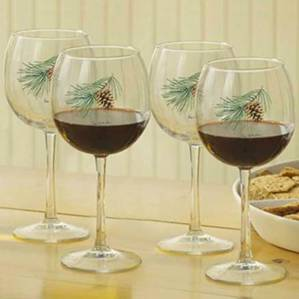 8722709107: Pinecone 16oz. Red Wine Glasses