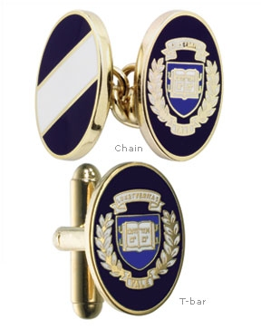 Yale University Enamel Cufflinks