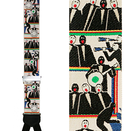 Limited Edition Silky Slim's Jazz Band Brace: 100% Hand Woven Silk