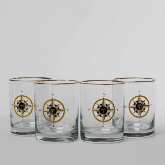 Compass Rose, Double Old Fashioned, 14oz, gift boxed - Click Image to Close
