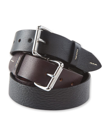 Milled Leather Belt