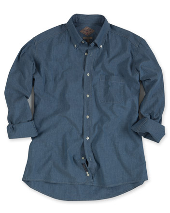 Cotton Chambray Shirt, Long-Sleeve