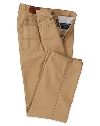 Weathered Canvas 5-Pocket Jeans