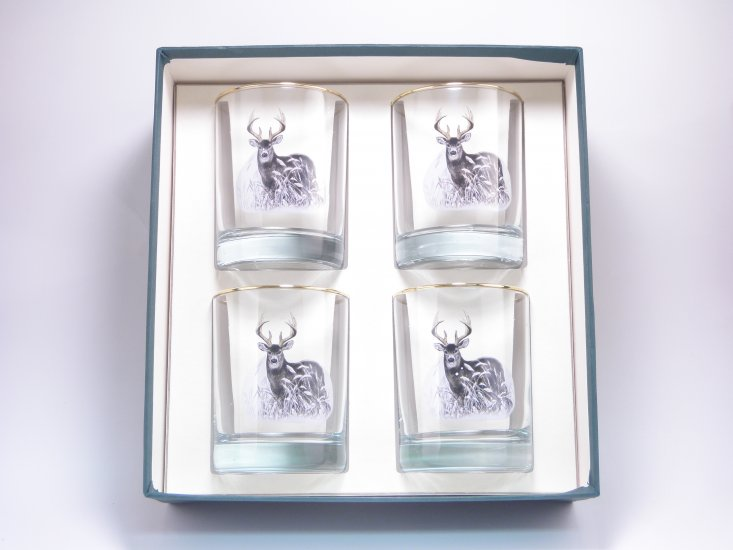 Deer, Double Old Fashioned, 14oz, gift boxed - Click Image to Close