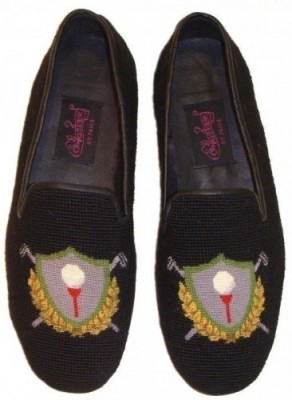 Nanx-7024  Golf Crest Needlepoit Loafer for Men