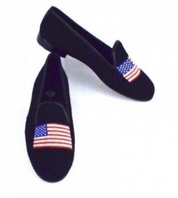 X7034-1 American Flag Needlepoint Loafer-Women's