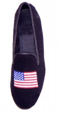 American Flag Needlepoint Loafers for Men