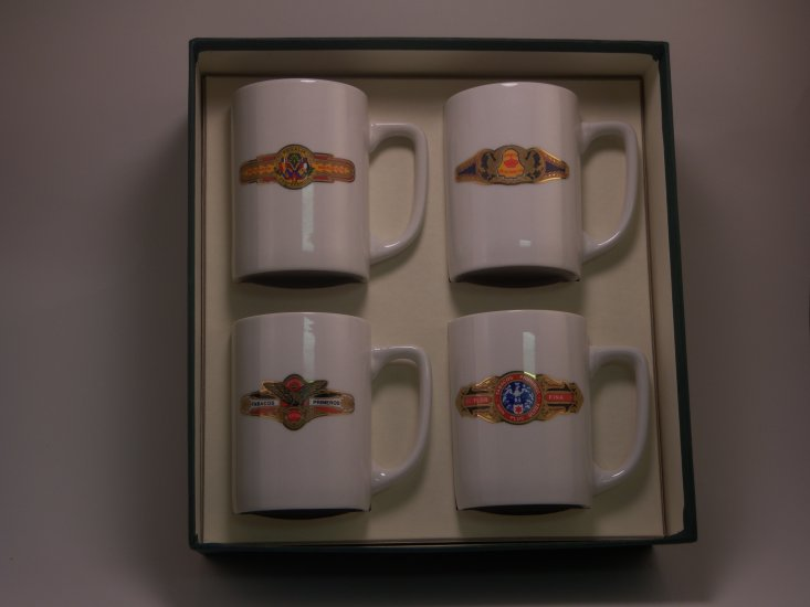 Cigar, Porcelain Mugs, 10oz, gift boxed - Click Image to Close