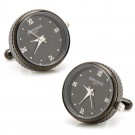 Black Stainless Steel Functional Watch Cufflinks