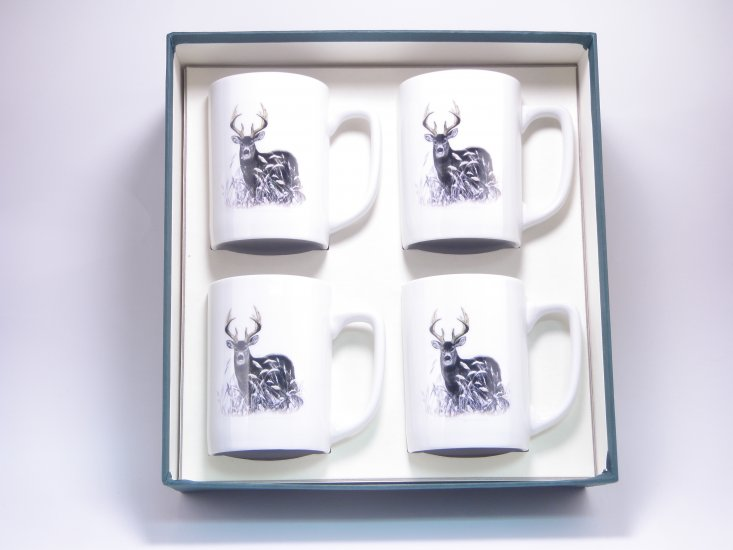 Deer, Porcelain Mugs, 10oz, gift boxed - Click Image to Close