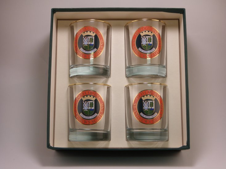 Scottish Golf, Double Old Fashioned, 14oz, gift boxed - Click Image to Close