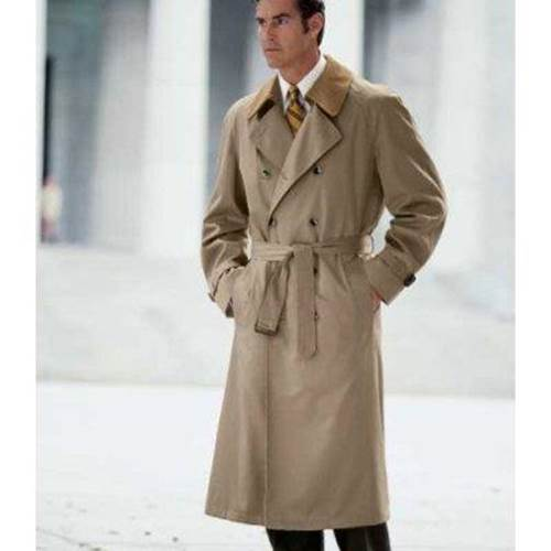 Men's long trench