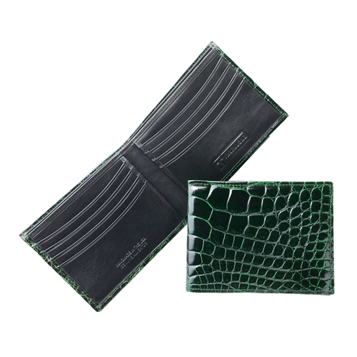 Alligator Double Billfold Wallet: Available in 9 Colors