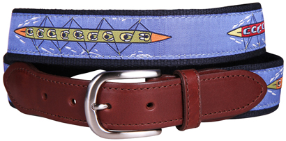 The Sweep Leather Tab Belt