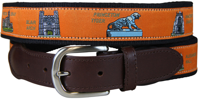 Princeton University Leather Tab Belt