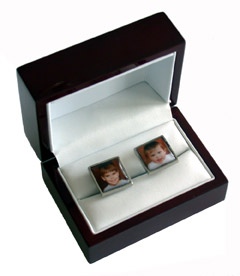 custom photocufflinks packaging